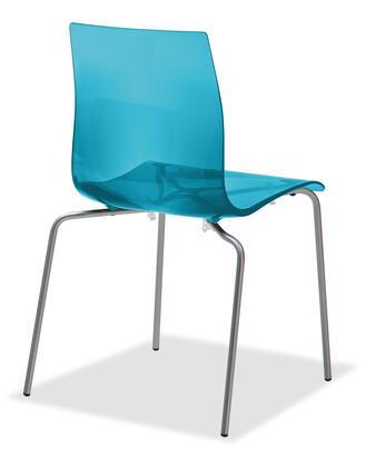 Domitalia GELBASFVSAZ Gel Series Transitional Metal Frame Dining Room Chair