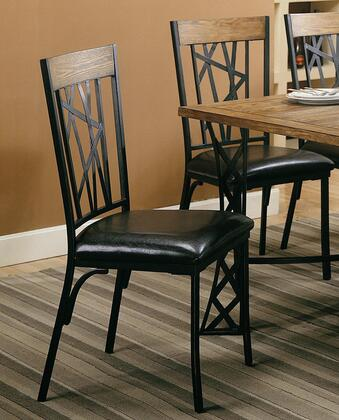 Coaster 120402 Hyperion Series Contemporary Faux Leather Wood Frame Dining Room Chair