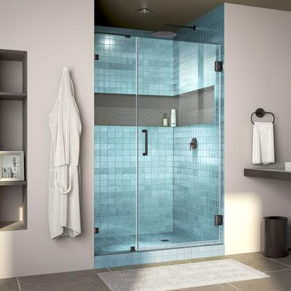 DreamLine Unidoor Lux Shower Door RS30 30D 14IP 09 Blue Tile