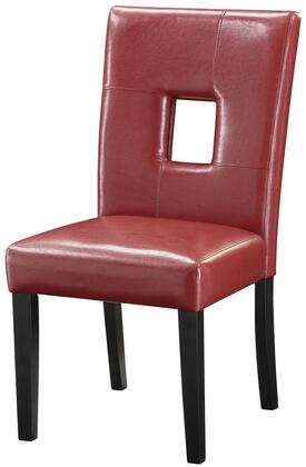 Coaster 103612RED Newbridge Series Casual Wood Frame Dining Room Chair