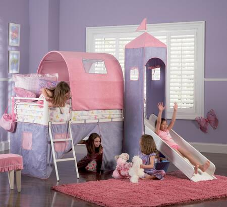 Powell 374069 Princess Series Childrens Twin Size Bunk Bed