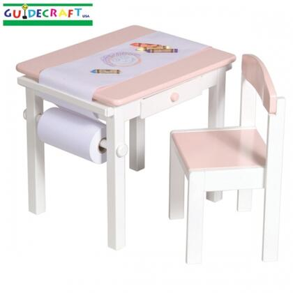 Guidecraft G9804X Art Table & Chair Set in X