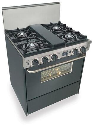 "FiveStar TPN275W 30"" Dual Fuel Freestanding Range with Open Burner Cooktop, 3.69 cu. ft. Primary Oven Capacity, in Black"