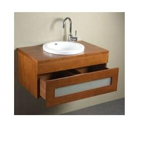 "Ronbow 010131-1- Rebecca 31"" Wall Mount Vanity Cabinet with Frosted Glass Drawer Front:"