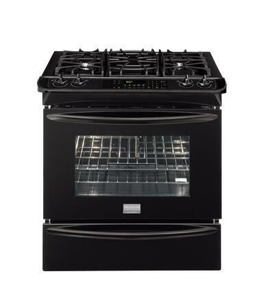 Frigidaire FGDS3065KB Gallery Series Slide-in Dual Fuel Range with Sealed Burner Cooktop Warming 4.2 cu. ft. Primary Oven Capacity |Appliances Connection