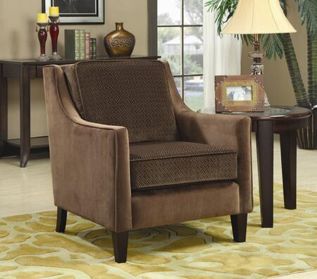 Coaster 902043 Accent Seating Series Armchair Fabric Wood Frame Accent Chair