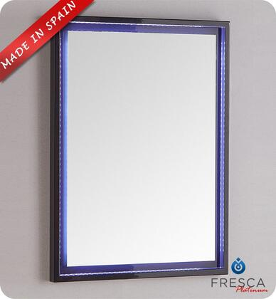 "Fresca Platinum Due FPMR78XXCB XX"" Bathroom Mirror with High Grade MDF Frame and LED Lighting with UL Certified Transformer in Glossy Cobalt"