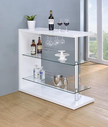 """Coaster 100167 Bar Units and Bar Tables Series 15.75"""" Wine Bar,"""