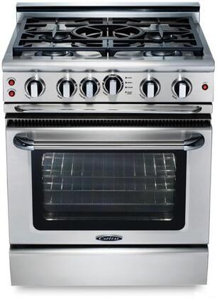 """Capital GSCR304QL 30"""" Precision Series Gas Freestanding Range with Sealed Burner Cooktop, 4.1 cu. ft. Primary Oven Capacity, in Stainless Steel"""