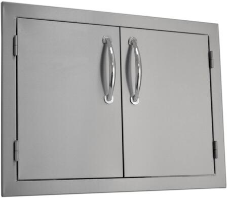 """Sole SODX2AD Built-in Deluxe Double Door with .375"""" Self-Rimming Trim Bezel, Raised Reveal Design, Easy to Gasp Handles and Premium Stainless Steel Construction"""