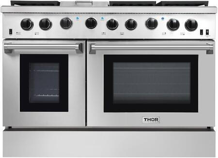 Thor Kitchen Lrg4801u 48 Inch Stainless Steel Gas Convection Freestanding Range