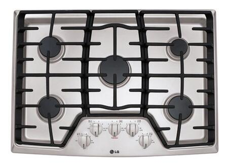 """LG LCG3011ST 30"""" Gas Sealed Burner Style Cooktop"""