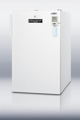 "Summit FS407LBI7MED20"" Medical Series Freestanding Upright Counter Depth Freezer"
