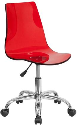 "Flash Furniture CH98018REDGG 16.5"" Adjustable Contemporary Office Chair"