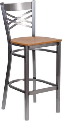 Flash Furniture XU6F8BCLRBARNATWGG Hercules Series Commercial Not Upholstered Bar Stool