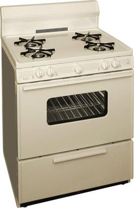 "Premier SFK290 30"" Freestanding Gas Range With ADA Compliant Front Controls, 17000 BTU Oven Burner, Heavy Duty Cast Iron Grates, Bakeview Oven Door and Four 9100 BTU Open Burners In"