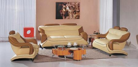 VIG Furniture VGEV7055 Modern Leather Match Living Room Set