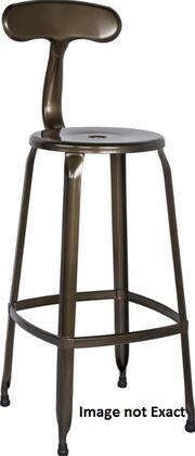 Chintaly 8035BSWHT 8035 Series Residential Not Upholstered Bar Stool