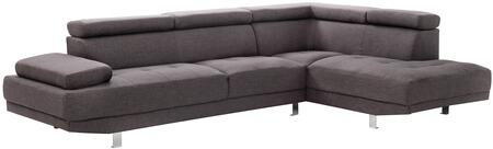 Glory Furniture G445SC Milan Series Curved Fabric Sofa