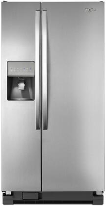 """Whirlpool WRS322FDAD 33""""  Side by Side Refrigerator with 21.2 cu. ft. Capacity in Silver"""
