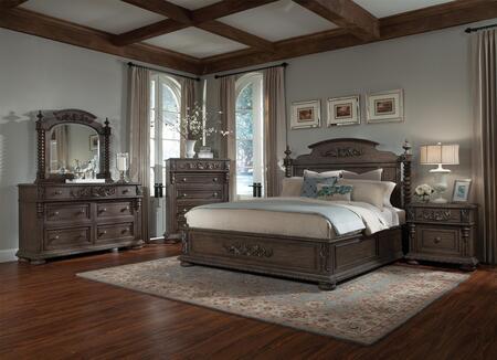 Klaussner 980CKPBDMN Versailles California King Bedroom Sets
