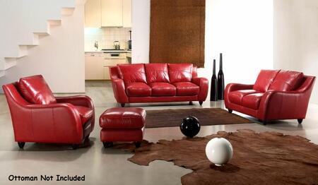 VIG Furniture VGCA2540RED Modern Leather Living Room Set