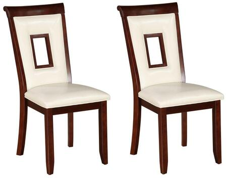 Acme Furniture 71602 Oswell Series Modern Bycast Leather Wood Frame Dining Room Chair