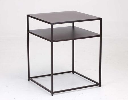 TAG 206840 Urban II Series Contemporary Metal Square None Drawers End Table