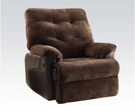 Acme Furniture 59180 Layce Series Transitional Fabric Wood Frame  Recliners