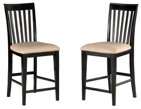 Atlantic Furniture MISSIONPCOC Mission Collection Set of 2 Pub Chairs with Oatmeal Seat Cushions: