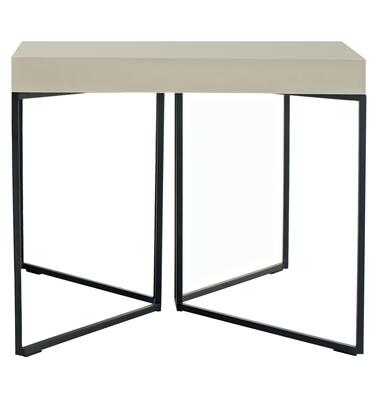 Argo Furniture CP1411IP04SS4MP Luna Series Contemporary Metal Square None Drawers End Table
