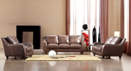 Vig furniture vgca2540brown modern leather living room set for Living room furniture 0 finance