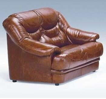 VIG Furniture VGDIMALAGALOVESEAT Malaga Series Leather Stationary with Wood Frame Loveseat