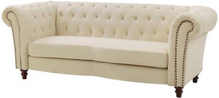 Glory Furniture G758S Victoria Series Stationary Fabric Sofa