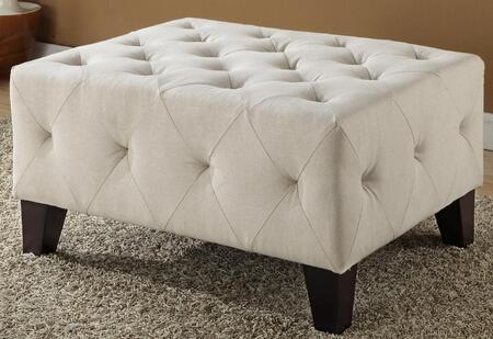 Armen Living LC5037OTCR Modern Fabric Ottoman