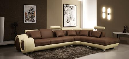 VIG Furniture VGEV4086BL Divani Casa Series Stationary Bonded Leather Sofa