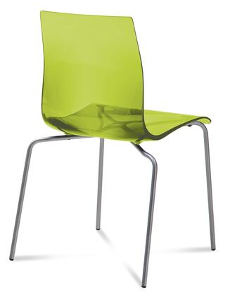 Domitalia GELBASFVSVE Gel Series Transitional Metal Frame Dining Room Chair