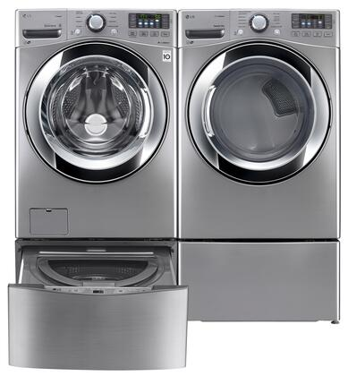 LG LG4PCFL27E2PEDSSKIT2 Washer and Dryer Combos