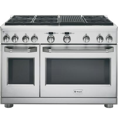"GE Monogram ZDP486NRPSS 48""  Stainless Steel Dual Fuel Freestanding Range with Sealed Burner Cooktop, 5.75 cu. ft. Primary Oven Capacity,"