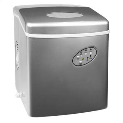 Haier HPIM26S  Ice Maker with 2 lbs Ice Storage, in Silver