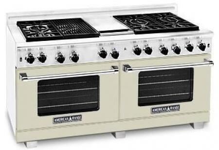 American Range ARR6062GDLBG Heritage Classic Series Liquid Propane Freestanding Range with Sealed Burner Cooktop, 4.8 cu. ft. Primary Oven Capacity, in Beige