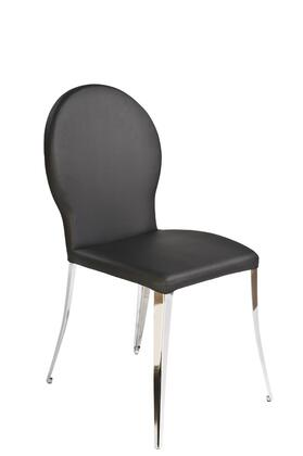 Euro Style 02302BLK Farid Series  Dining Room Chair
