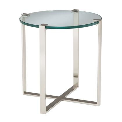 Sterling 6041031 Uptown Series Contemporary Metal Round None Drawers End Table