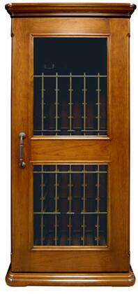 """Vinotemp VT-SONOMACL350 Sonoma Classic Series 35"""" 350-Model Wine Cabinet with 160-Bottle Capacity, Wine-Mate Cooling System, Cherry Wood Racks, Cornice/Base and Digital Temperature Control"""