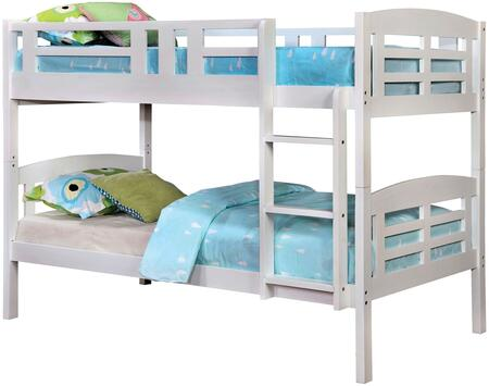 Furniture of America CMBK627BED Cassie Series  Twin Size Bunk Bed