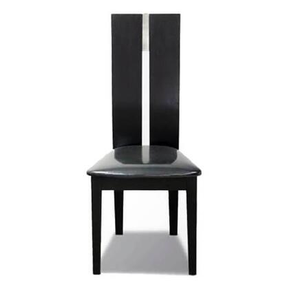 VIG Furniture JK414SCHBLK Maxi Series Modern Leather Wood Frame Dining Room Chair