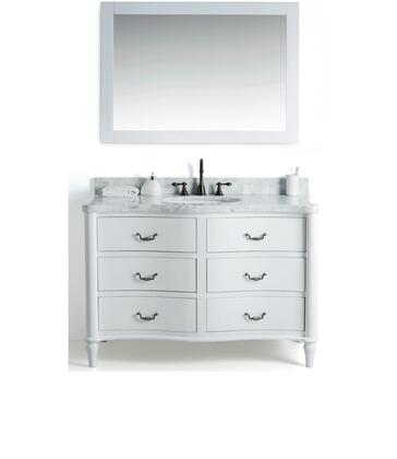 """Legion Furniture WS2448 48"""" Solid Wood Sink Vanity With Mirror And Faucet"""