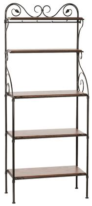 Stone County Ironworks 903-186 Leaf Bakers Rack 5-Tier