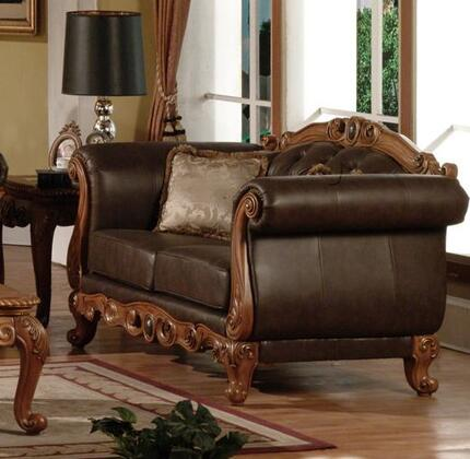 Meridian 668L Bonded Leather with Wood Frame