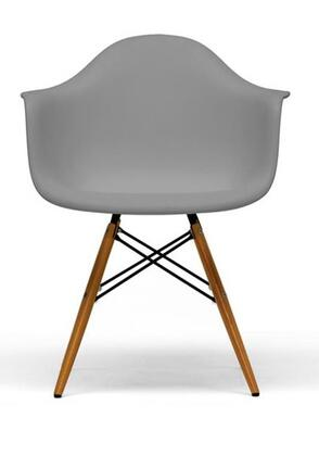 Wholesale Interiors DC866 Pascal Set Of 2 Mid-Century Modern Shell Chair with Tapered Legs, Steel Hardware, Molded Plastic Shell Seat and Non-Marking Feet